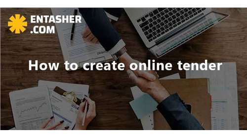 How to create online tender ?