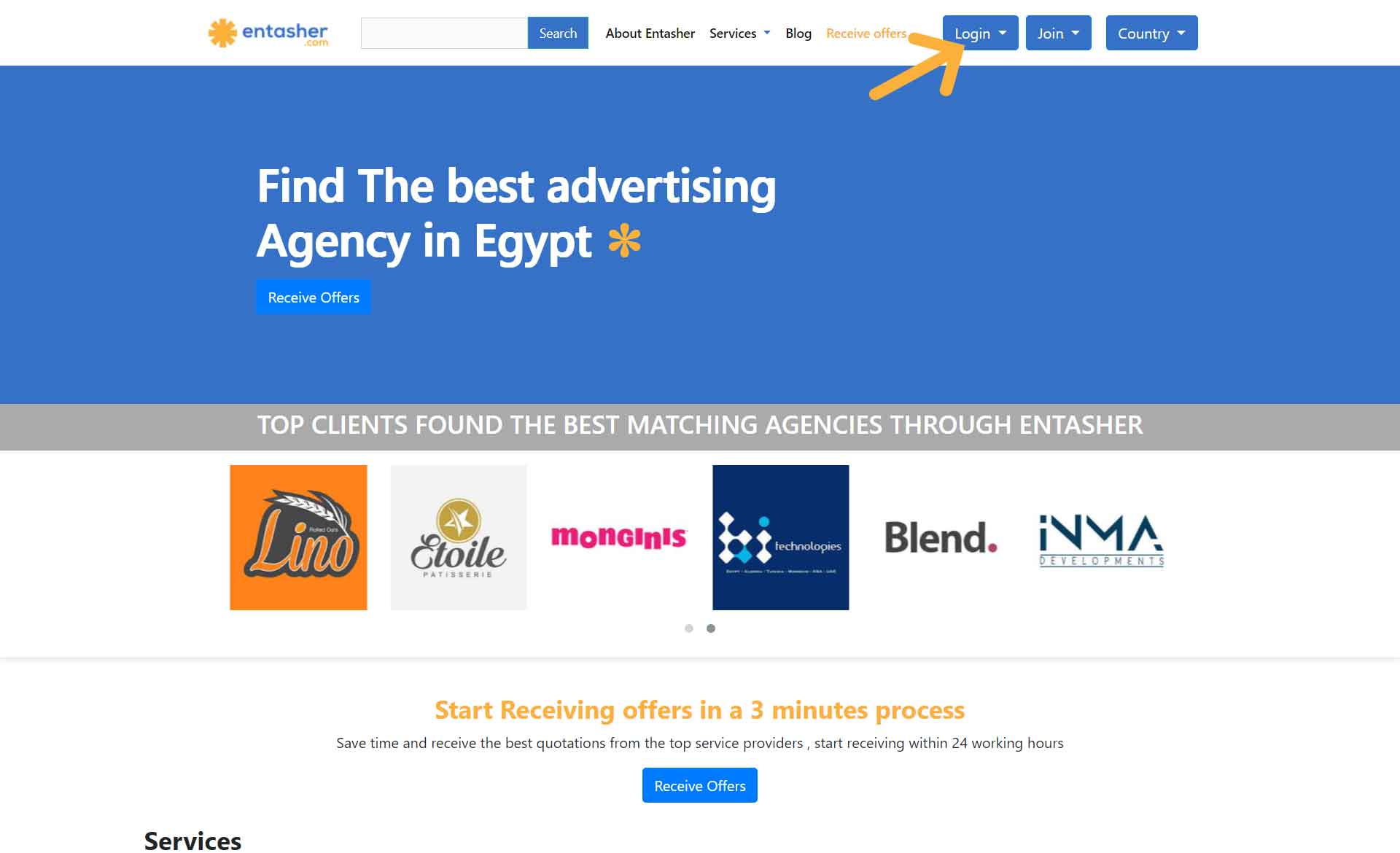 Step 1 Login or signup as an agency